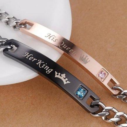Bracelet Couple King Et Queen