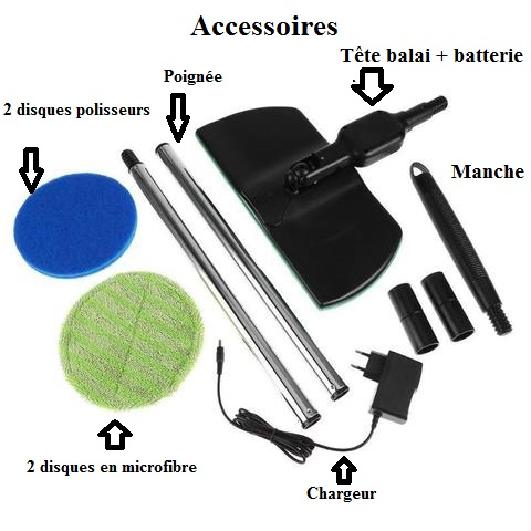 Vadrouille Electrique Rotative Sans Fil