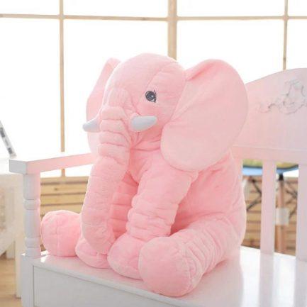 Peluche d'éléphant rose