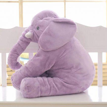 Peluche d'éléphant violet
