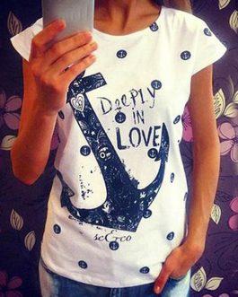 Joli T-Shirt A Motif Ancre