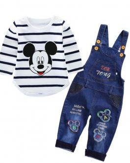 Ensemble Salopette Mickey