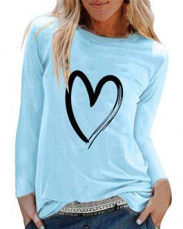 T-shirt A Motif Cœur Pour Femme