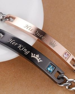 Bracelet Couple King Et Queen