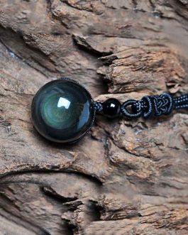 Collier Oeil Céleste En Obsidienne