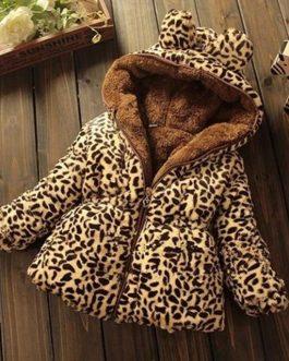 Manteau Léopard Pour Fille