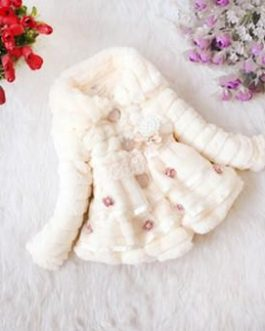 Cute Manteau En Fourrure Pour Fille