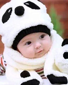 Bonnet-Écharpe Panda Pour Bébé