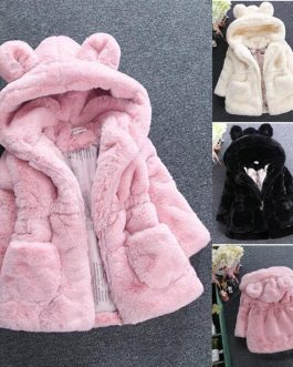 Superbe Manteau Fourrure Pour Petite Fille