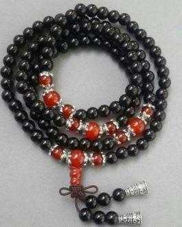 Bracelet En Obsidienne Bouddhiste