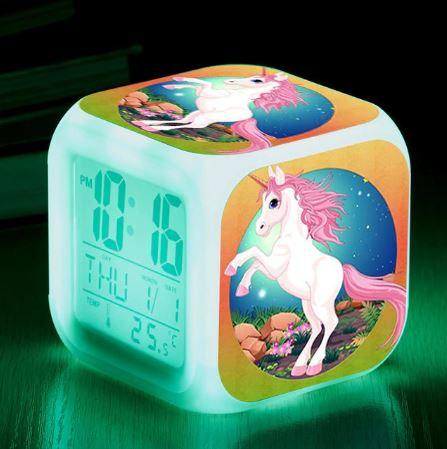 Réveil Licorne LED