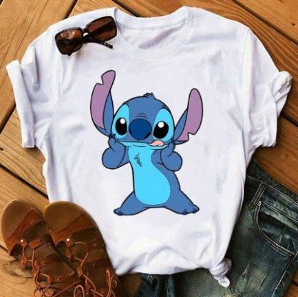 T-Shirt A Imprimé Stitch ET Lio