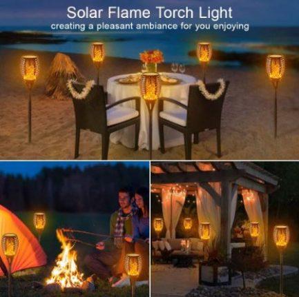 Lampe Solaire De Jardin Effet Flamme