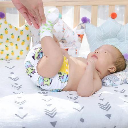 Couches Pour Bébé Lavables (4pcs)