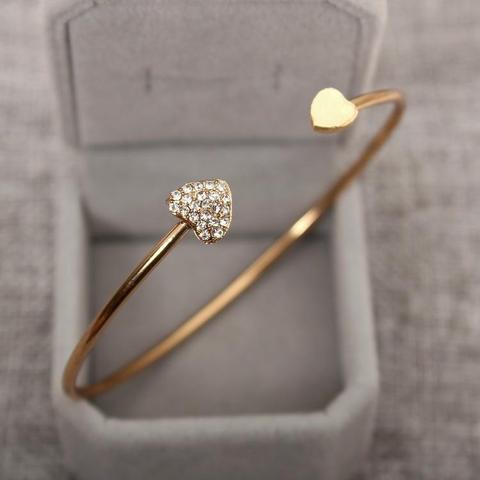 Magnifique Bracelet Double Cœur