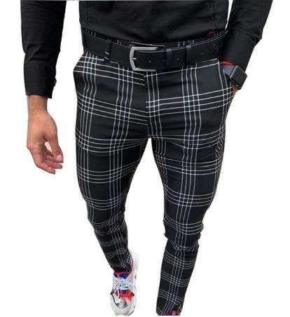 Pantalon A Carreaux Pour Homme