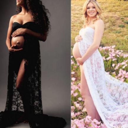Robe De Maternité Shooting Photos