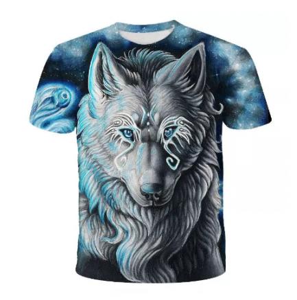 T-shirt Homme Imprimé Loup