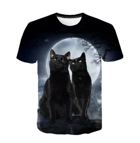 T-shirt Imprimé Chat Mixte