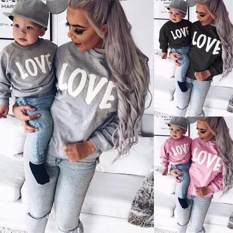 Pull Imprimé Love Mère & Fils